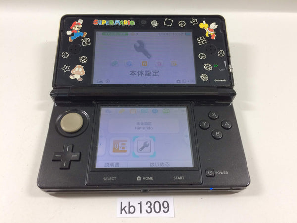 kb1309 Plz Read Item Condi Nintendo 3DS Cosmo Black Console Japan