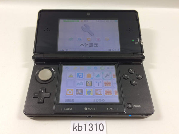 kb1310 Plz Read Item Condi Nintendo 3DS Cosmo Black Console Japan