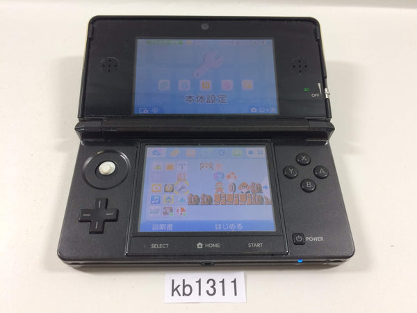 kb1311 Plz Read Item Condi Nintendo 3DS Cosmo Black Console Japan