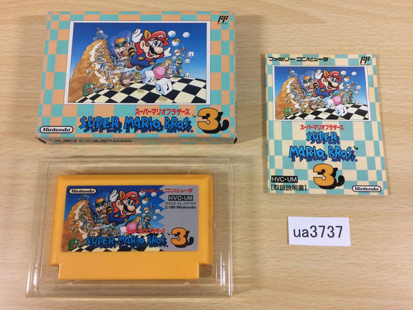 ua3737 Super Mario Bros. 3 BOXED NES Famicom Japan