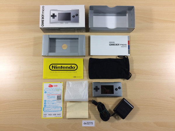 de3275 GameBoy Micro Silver BOXED Game Boy Console Japan