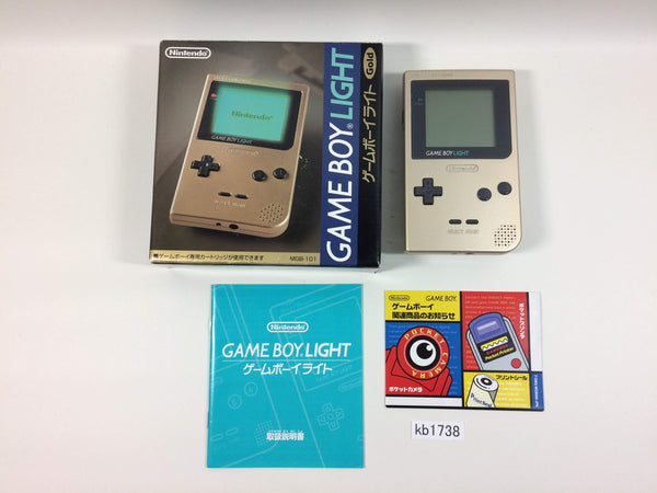kb1738 GameBoy Light Gold BOXED Game Boy Console Japan