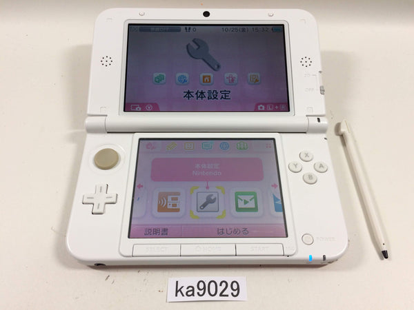ka9029 Nintendo 3DS LL XL 3DS Pink White Console Japan