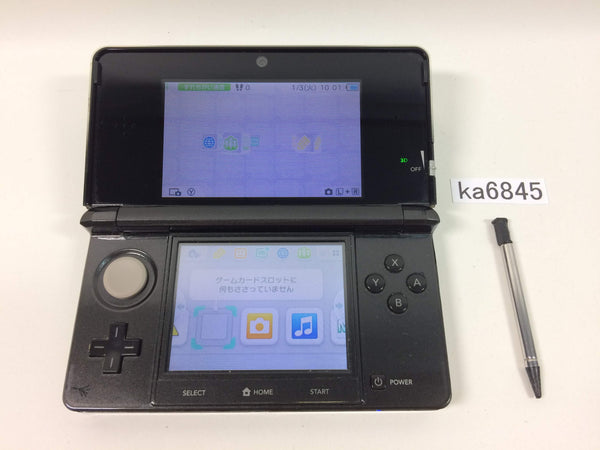 ka6845 Nintendo 3DS Cosmo Black Console Japan