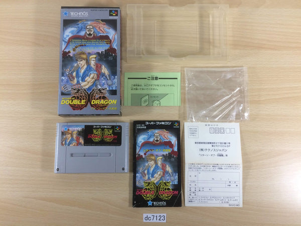 dc7123 Return of Double Dragon BOXED SNES Super Famicom Japan