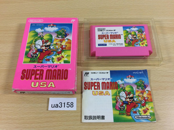 ua3158 Super Mario USA BOXED NES Famicom Japan