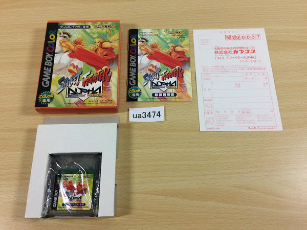 ua3474 Street Fighter Alpha Warriors' Dreams BOXED GameBoy Game Boy Japan