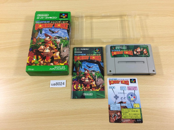 ua8024 Super Donkey Kong Country BOXED SNES Super Famicom Japan