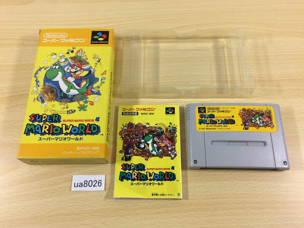 ua8026 Super Mario World BOXED SNES Super Famicom Japan