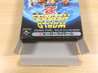 ua6415 World Heroes 2 BOXED SNES Super Famicom Japan