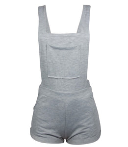 Cute and Casual Backless Grey Bodysuit