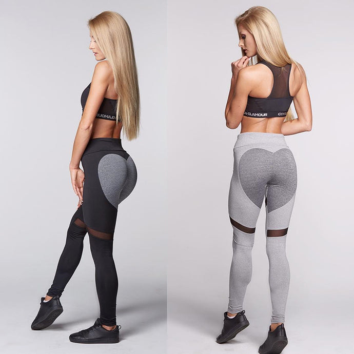 Women's Workout Gym Leggings Skinny Fit – Black and Gray