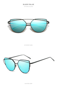 Metal Frame Mirror Sunglasses in Various, Unique Colors