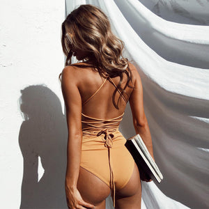 Racer Back One-Piece Bathing Suit