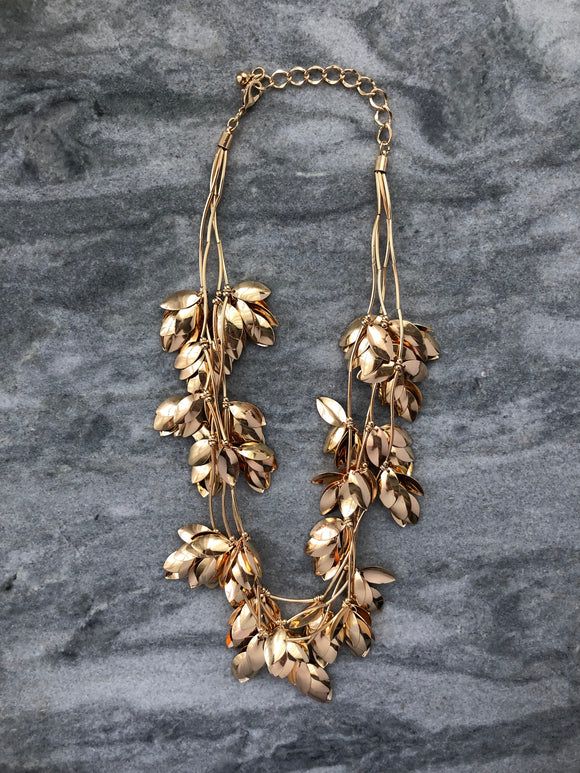 Gold Leaves Necklace