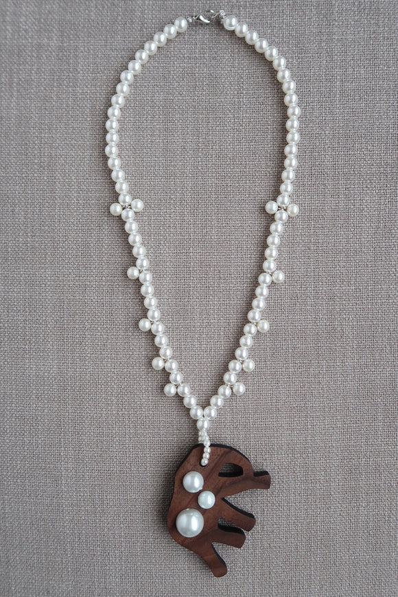Little Girl Elephant Necklace - All Pearls