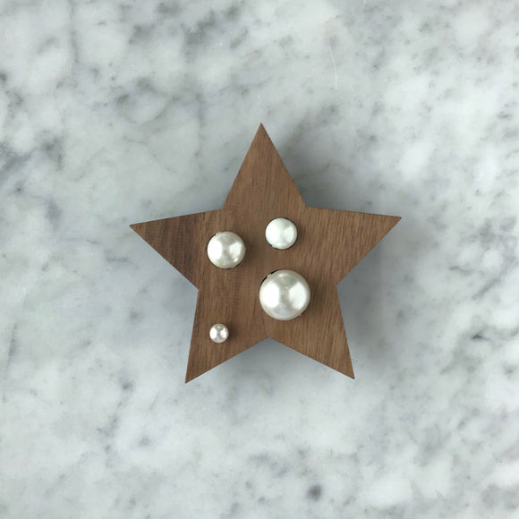 Big Wooden Brooch