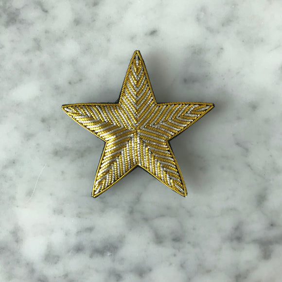 The Small Star Brooch - Gold & Silver