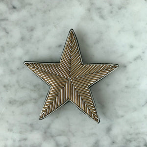 The Big Star Brooch - Silver & Brown