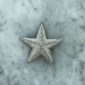 The Small Star Brooch - All Silver