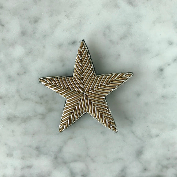 The Small Star Brooch - Silver & Brown