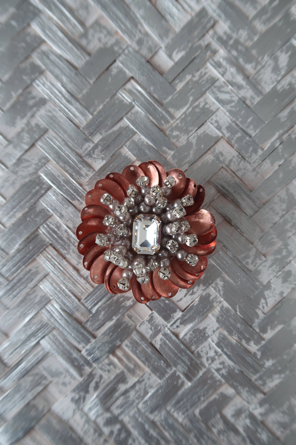 Rose Gold Tish Tish Brooch -Small