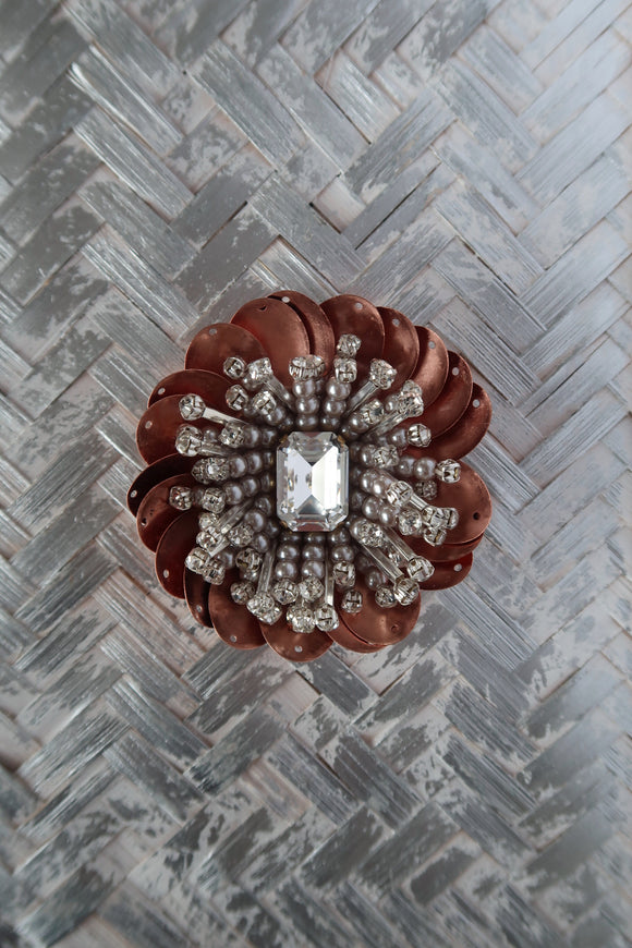 Rose Gold Tish Tish Brooch - Big