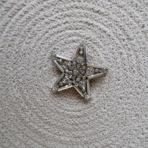 Small Crystal Star Brooch