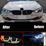DTM Style Horseshoe Switchback LED Angel Eyes Halo For BMW F30 F31