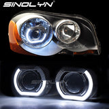 2.5'' Sport Angel Eyes Halo HID Bixenon Projector Lens H4 H7 Headlights