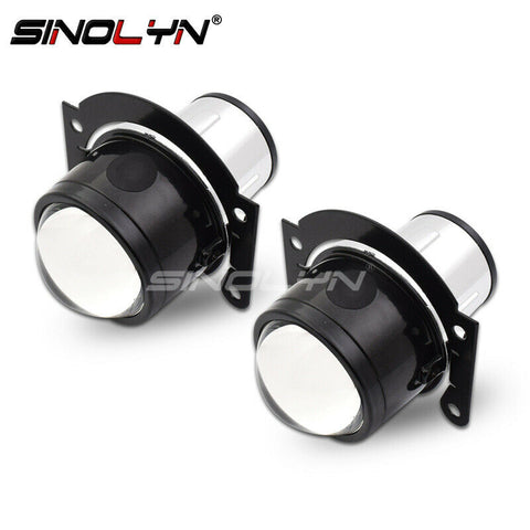 Universal HID Bi-xenon Fog Lights Projector Lens H11 High Low