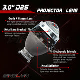 3.0''D2S HID Bixenon Projector Headlight Lens Automobiles Retrofit Kit