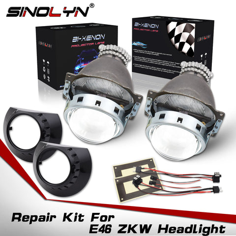For BMW E46 ZKW Headlight HID Bi-xenon Projector Lens Repair