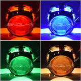 LED Devil Eyes Demon Evil Eye For Headlight Retrofit Red Blue White Green