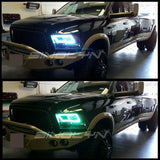 For Dodge Ram Headlight RGB SMD LED Halo Ring RGB Multi-Color Angel Eyes Remote