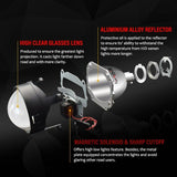 2.5'' Mini HID H1 Bi-xenon Projector Lens Headlight Lenses Kit