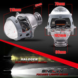 3.0'' HID Bixenon Projector Lens Headlight W/Devil Eyes Etching Honeycomb Blue Lens