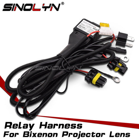 12V 35W/55W H4 9003 HID Xenon Relay Harness For Bixenon Projector Lens Control Wiring Controller Wire+Fuse