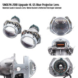 Bi-xenon Headlight Lens HID Projector 3.0'' For Hella 3R G5 5 Blue Film Lens