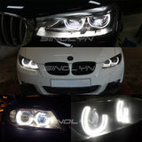 RGB DRL Angel Eyes SMD LED Acrylic Halos 3/4 DTM LCI Style Mulit-Color For BMW E60 E90 F31 E92 F30 E87 F88 M5 Headlight Retrofit