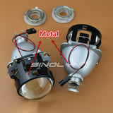 Metal 2.5 Pro HID Bi xenon Projector Headlight Lens H4 H7 Use H1 Bulb Retro