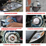 HID Bi-xenon Projector Lens Replace For Ford Mondeo Mk4 Headlight Retrofit