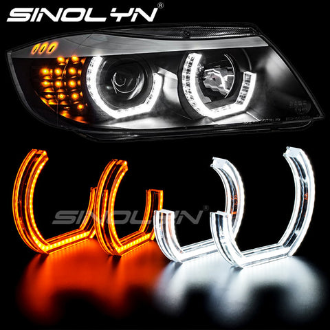 LED Angel Eyes Halo Rings DTM LCI M4 Style For BMW E90 E92 F30 F31 E60 E82 M5 Switchback