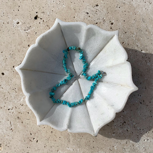Capri Crystal Necklace - Blue Howlite