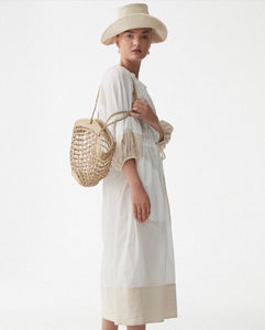 Hand woven sea grass bucket and Canvas Bucket hat, ethically handmade in India.