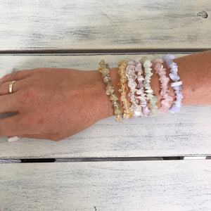 Crystal Bracelet Stack - set of 7