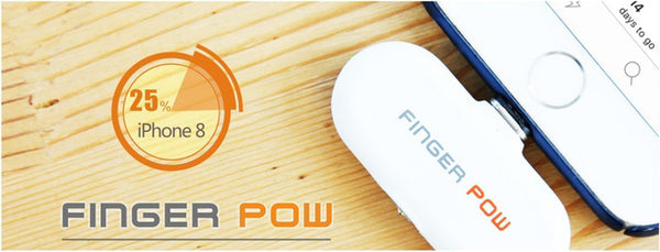 Finger Pow Station and Portable Charging Packs with Two Adapter and One Magnetic Charging Cable