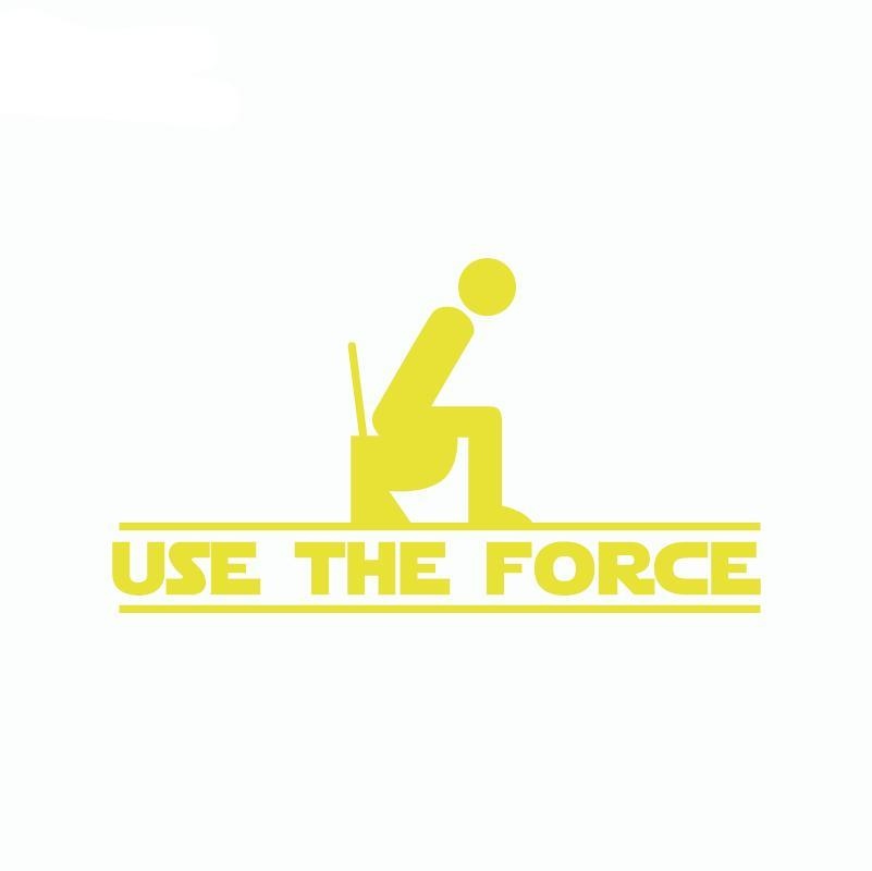 Use the force toilet sticker