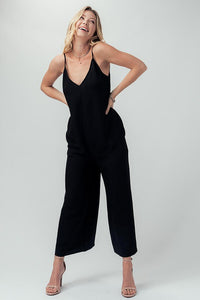 The Ava Jumpsuit in Black