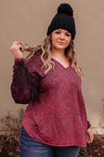 A Cozy Hooded Top in Blackberry